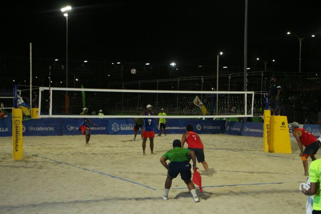 Voleibol playa, derrota de México vs Cuba (final)
