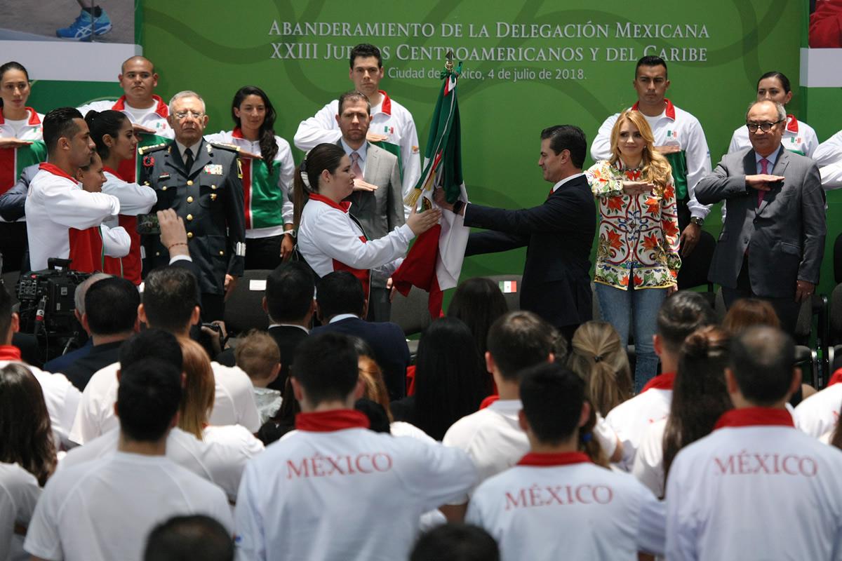 Abanderamiento a la delegación mexicana rumbo a Barranquilla 2018